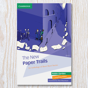 Cover illustration for 'Paper Trails' published by Cambridge University Press.
